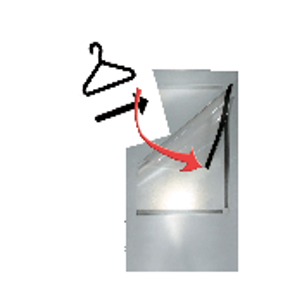 2x magnetische brochurehouder Kem A4