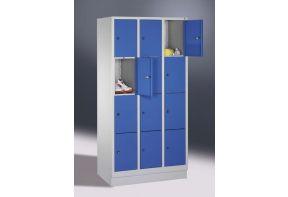 Lockerkast Classic 3.12 - 90cm breed - blauwe deuren