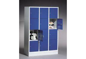 Lockerkast Classic 3.12 - 120cm breed - blauwe deuren