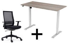 Roseat thuiswerkplek set Active - 1 motor - Ergonomisch zit sta bureau en stoel