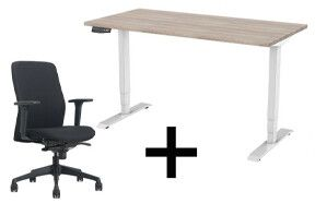 Roseat Thuiswerkplek set Deluxe - Zit-sta bureau met stoel - elektrisch - 2 motoren