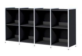 Artline-kantoor-sideboard-dressoir-8-vakken-Antraciet