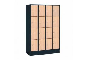 Garderobekast Viola 4.16 - houten deuren - beuken