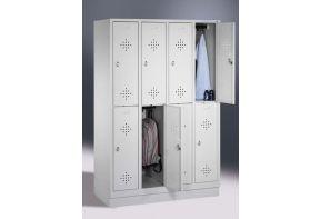 Garderobekast Classic 4.8 - witte ombouw & witte deuren