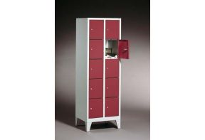 Lockerkast Classic 2.10 - breedte 61 cm - rode deuren