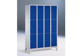 Lockerkast Classic 4.12 - 119cm breed - blauwe deuren
