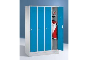 Garderobekast Classic 4.4 - lichtblauwe deuren