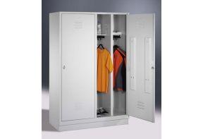 Garderobekast Classic 4.2 - schoon/vuil verdeling - sokkel - witte ombouw & deuren