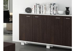 Kantoordressoir Quadro D90 Elan Double Wengé