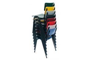 Stapelstoel Strong - Kunststof zitting - staal frame - meerdere kleuren leverbaar