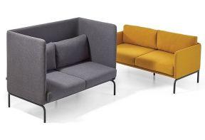 Hoge en lage sofa - Park - okergeel - grijs - zwart