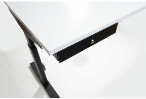 Zwarte persoonlijk  bureaulade van Beta onder een wit bureaublad van de Beta Easy Click-T.