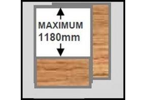 Rex houten scheidingswand met whiteboard halfhoog-1