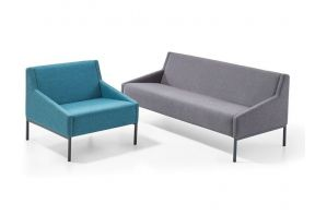 Kantoor zitbank - Salto - blauw - grijs