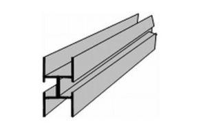 Rex Aluminium profiel voor scheidingswand