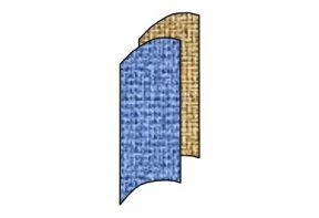 Rex Scheidingswand gestoffeerd 90º gebogen R81cm breed