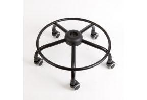 Spinvoet staal met zachte wielen