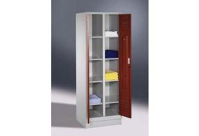 Was garderobekast Classic 2.2 - 61cm breed - gezamelijke sluiting - rode deuren