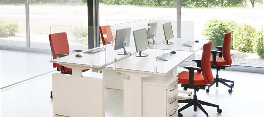 Plexiglas bureauschermen