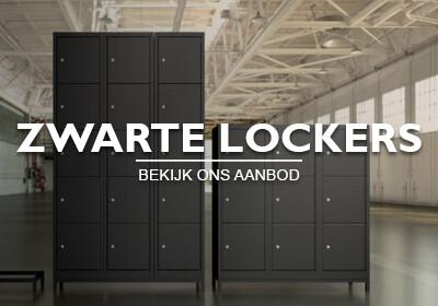 Zwarte lockers